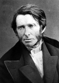 John Ruskin in the 1850s, photo from the Life magazine.