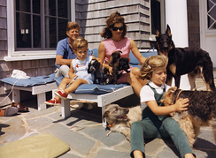 The Kennedy family in Hyannis Port, Massachusetts, in 1963