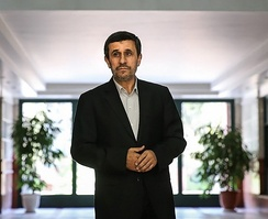 Ahmadinejad in his presidential museum, known as Office of the Former President of Islamic Republic of Iran