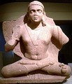 Maitreya (water bottle on left thigh), art of Mathura, second century CE