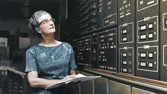Dr. Nancy Grace Roman, NASA's first Chief of Astronomy, is shown at NASA's Goddard Space Flight Center in Greenbelt, Maryland, in approximately 1972.