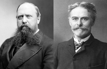 The rivalry between Othniel Charles Marsh (left) and Edward Drinker Cope (right) sparked the Bone Wars.