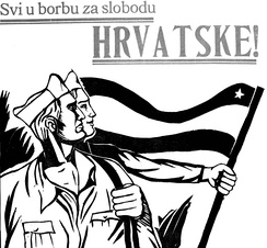 "Croatian Partisan poster: ""Everybody into the fight for the freedom of Croatia!"""