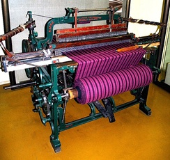 A foot-treadle operated Hattersley & Sons, Domestic Loom, built under licence in 1893, in Keighley, Yorkshire.
