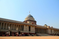 Rashtrapati Bhavan, the official residence of the president, located at New Delhi