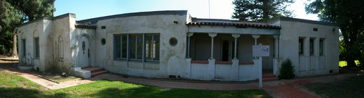 The small adobe that serves as the visitor center.