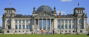 German unity was established on 3 October 1990.[86] Since 1999, the Reichstag building in Berlin has been the meeting place of the Bundestag, the German parliament.