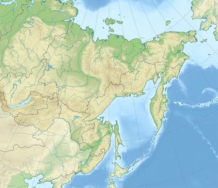 Дальневосточный федеральный округ: физико-географическая карта