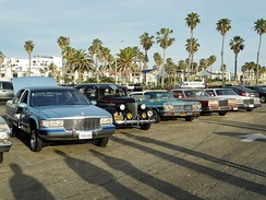 Lowriders on display in Santa Monica