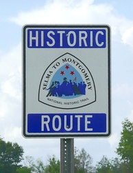 Selma to Montgomery National Historic Trail sign