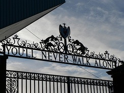 Shankly Gates at Anfield, Liverpool F.C.'s stadium