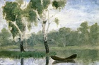 Small Lake with Boat', 1880, oil on paper on board, 12 x 18 cm, Munch Museum, Oslo