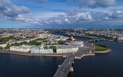 Vasilievsky Island of St. Petersburg, pictured in 2017. During the Winter and Continuation Wars, Leningrad, as it was then known, was of strategic importance to both sides.