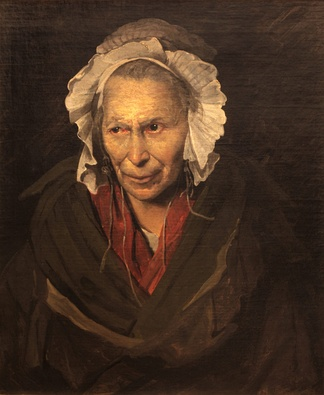 Portrait of a demented woman or The monomaniac of jealousy (also named The Hyena of la Salpêtrière), by Théodore Géricault, c. 1819–1822, Museum of Fine Arts of Lyon