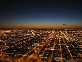 Westward view from the Willis Tower in Chicago