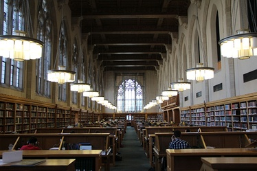 Reading room of the law school's library