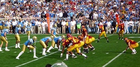 The 2008 game marked a return to both teams wearing their color jerseys; a tradition born out of the two schools sharing the Los Angeles Coliseum from 1929 to 1981.