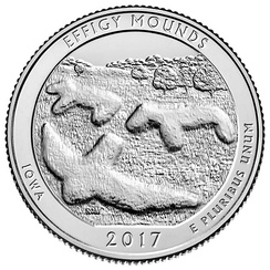 The mounds commemorated on a 2017 US Quarter.[5]