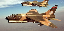 3d Tactical Fighter Squadron A-7D Corsair II 70-0983 and 71-0311 in flight