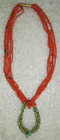 6-strand necklace, Navajo (Native American), ca. 1920s, Brooklyn Museum