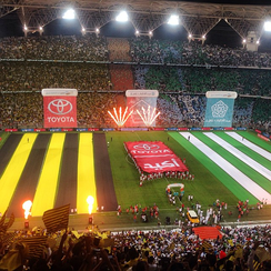 59,026 fans attend the first local derby in the stadium between Al-Ahli and Al-Ittihad on December 19, 2014.