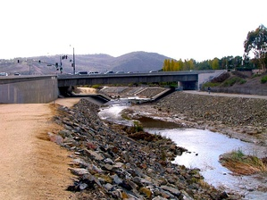 Aliso Creek (Orange County) which traditionally marked the boundary between the Tongva and the Juaneño.