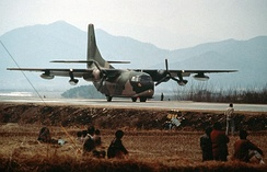 A South Korean C-123K in 1989.
