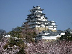 Cherry blossoms at Himeji Castle, Japan