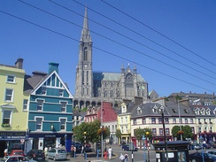 Many cathedrals are important landmarks. Cobh Cathedral, Ireland, rises up above the town.