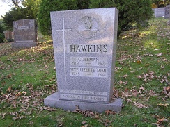 The grave of Coleman Hawkins