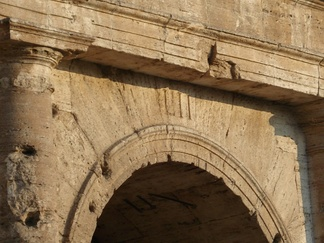Entrance to section LII (52) of the Colosseum, with numerals still visible