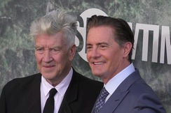 Lynch (left) with Kyle MacLachlan at the 2017 premiere of Twin Peaks: The Return.