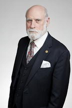 Vint Cerf (BS 1965), co-leader of the Stanford team that designed the architecture of the internet