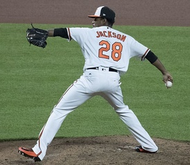 Jackson with the Orioles in 2017