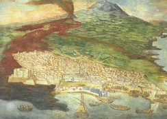 Mount Etna erupting in 1669