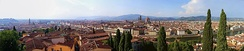 Panorama composite, overview of Firenze, taken from the Giardino Bardini viewpoint.