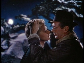 Screen capture of Ingrid Bergman and Gary Cooper