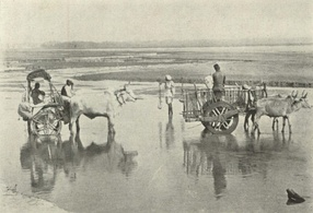 Fording an Indian River, c. 1905