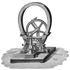 Small Gramme dynamo, around 1878.
