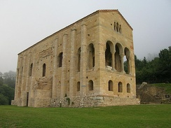 Santa María del Naranco, ancient palace of Asturian Kings, 842 AD. Many churches of Asturias are among the oldest churches of Europe since Early Middle Ages.