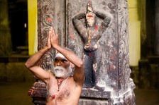 A sadhu in Madurai, India