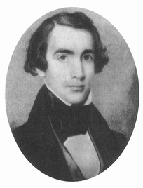 A portrait of a young Joshua Fry Speed, who shared accommodation with Lincoln in Springfield, Illinois, for four years.