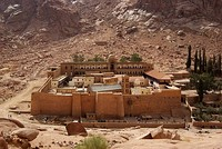 Saint Catherine's Monastery on Mount Sinai, early 6th century.