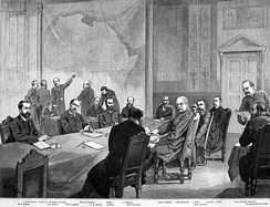 The Congo conference 1884/1885 in Berlin laid the basis for the Scramble for Africa, the colonial division of the continent.