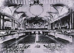 The concert hall, looking in the opposite direction, circa 1905/1910