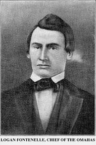 Logan Fontenelle, an interpreter for the Omaha Tribe when it ceded the land that became the city of Omaha to the U.S. government