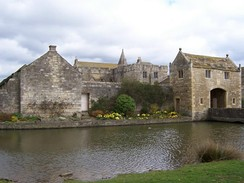 Markenfield Hall in North Yorkshire, a 14th-century manor house with moat and gatehouse