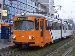 Carriage 112 in new RNV livery
