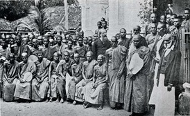 Henry Olcott and Buddhists (Colombo, 1883).