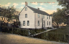 William Badger House in 1912, Badger's Island